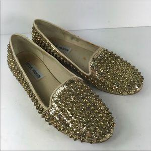 Steve Madden studded glitter loafers